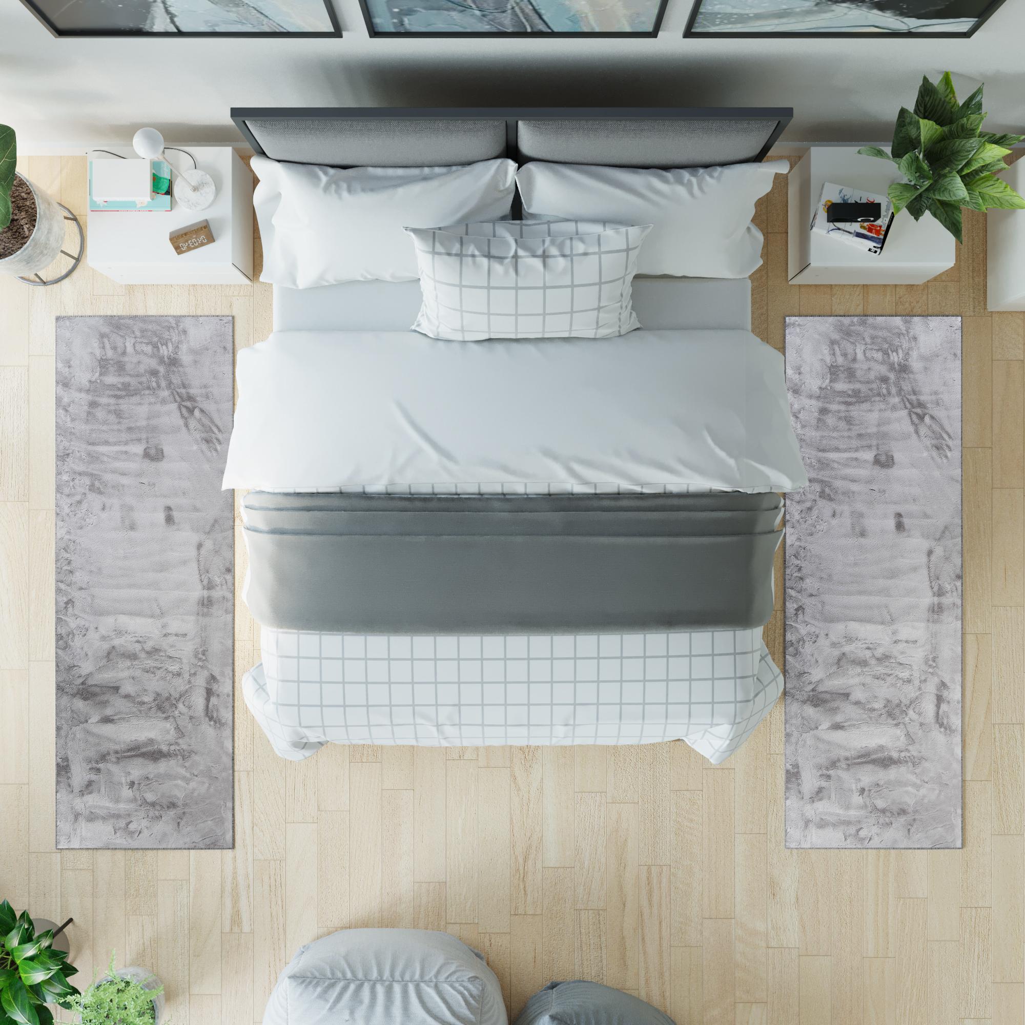 Jednokolorowy dywan w sypialni – wady i zalety