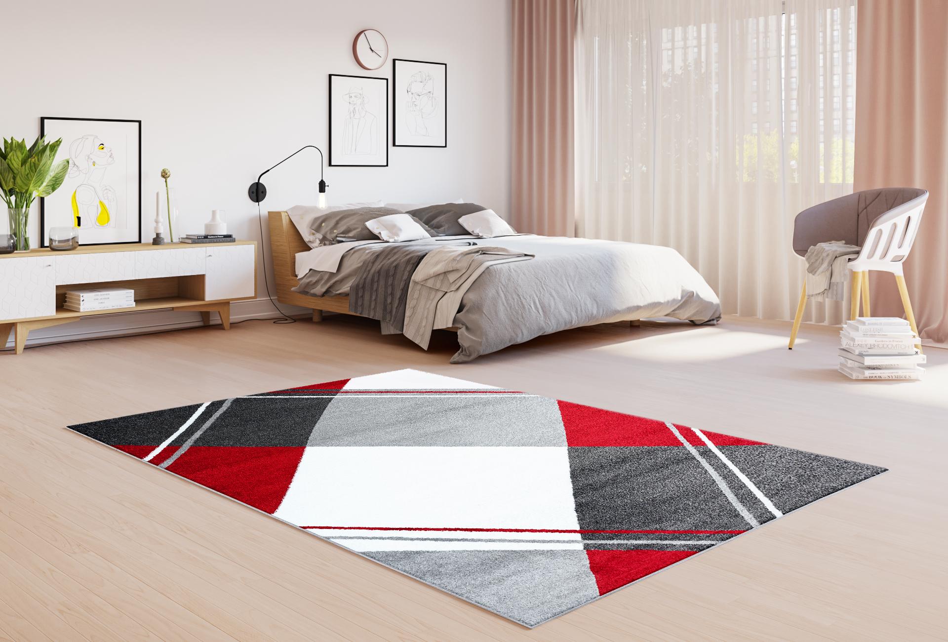 Dywan nowoczesny LUX VERSO 4725A A7A 41 czerwony