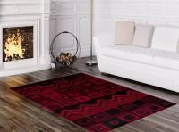 Dywan 3907 /BLACK/CARAMEL SCARLET RED