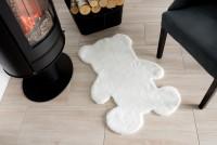 Dodatek RABBIT FUR TEDDY BEAR WHITE