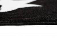 Dywan nowoczesny C440A BLACK/ BALI PP biały