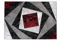 Dywan nowoczesny BALI PP C585D BLACK czerwony