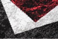 Dywan nowoczesny C585D BLACK/ BALI PP czerwony