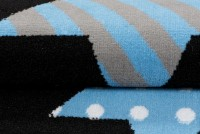Dywan C516D BLACK/ BALI PP BLUE