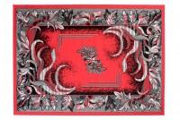 Dywan nowoczesny BALI PP C511G /BLACK czerwony