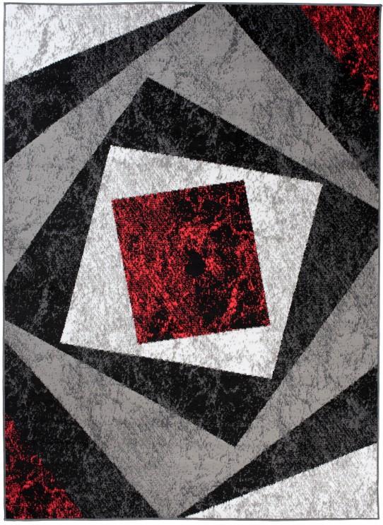 Dywan C585D BLACK/ BALI PP RED