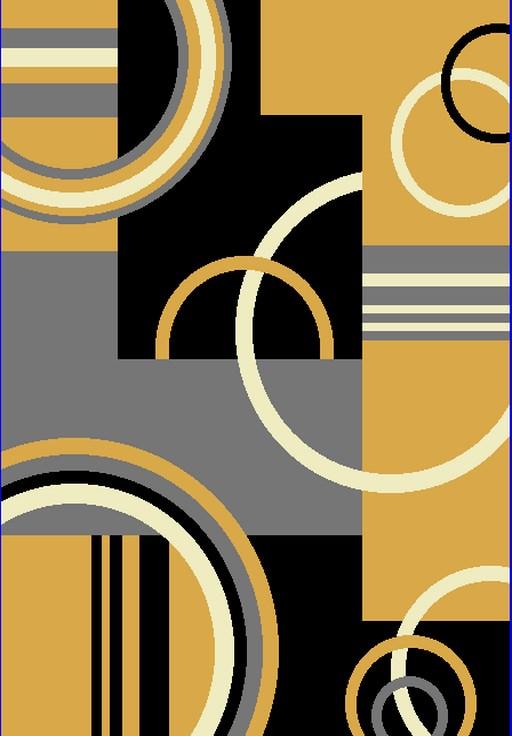 Dywan nowoczesny Z897A MAYA PP EYM żółty